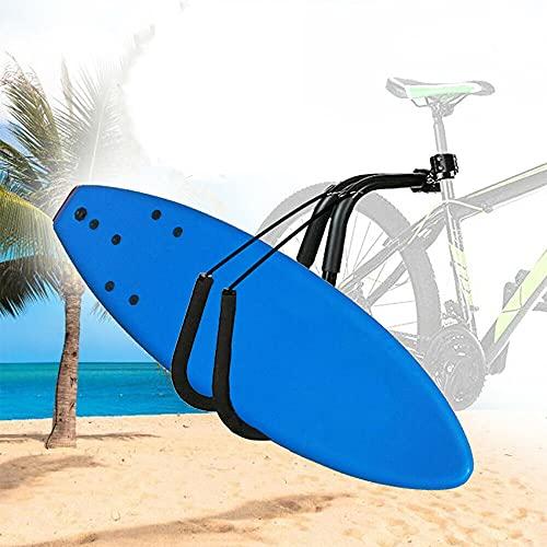 APROTII Ajustable tabla de surf Rack Soporte Bicicletas Surfing Carrier Mount Seat Post al aire libre Bicicletas Surf Carrier Rack Accesorios