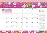 Bonnie Marcus 2021 14 x 10 Inch 18 Months Monthly Desk Pad Calendar by Plato, Fashion Designer Stationery