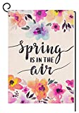 BLKWHT Spring is in The Air Garden Flag Vertical Double Sided 12 x 18...