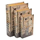 Juvale Libro Caja de Seguridad - 3-Pack Falso Hueco Libros, Ahuecado Decorativos de imitación Libros con Secreto Oculto de Caja de Compartimiento