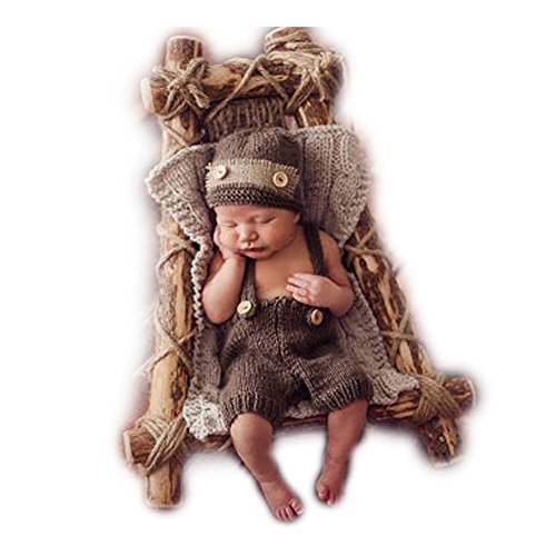 Newborn Photography Props Baby Boy Girl Photo Shoot Outfits Costumes Knitted Hat Pants