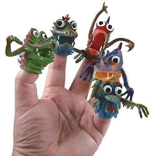 SZSCUTE 10 Stück Fingerpuppen-Set,Tier-Dinosaurier-Monster-Fingerpuppen-Spielzeug-ideal für Halloween,Interaktives Spielzeug-Geschichtenerzählen für Kinder,Rollenspiele,Unterricht und Spaß (B)