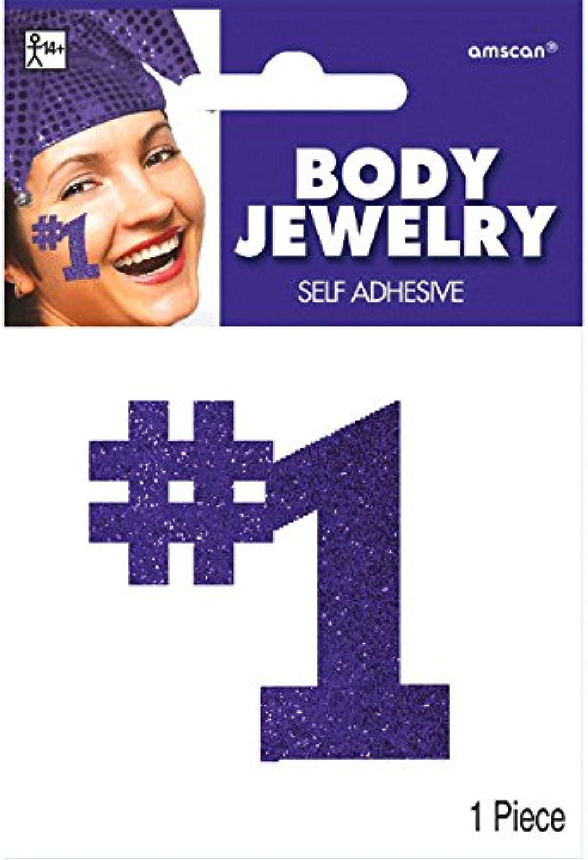 Amscan (Amsdd)  1  Glitter Body Jewelry Accessory (Piece), Purple, 24