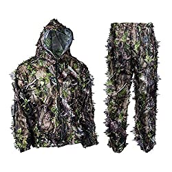 20%OFF EAROOMZE Mens 3D Lightweight Hunting Suit Airsoft Sniper Ghillie Breathable Camouflage Clothing