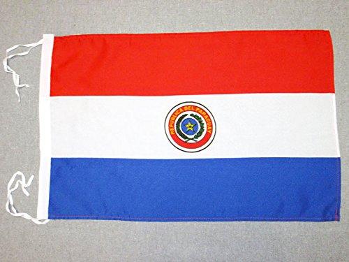 AZ FLAG Flagge Paraguay 45x30cm mit Kordel - Republik Paraguay Fahne 30 x 45 cm - flaggen Top Qualität
