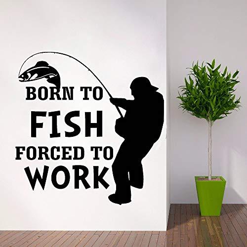 yaonuli Vissen muur stickers outdoor activiteiten muurstickers verwijderbare raamdecoratie geboren in vis muur schilderij vinyl