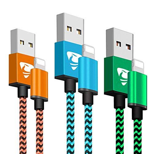 Cavo Micro USB 3 Pezzi [1m, 2m, 3m] Yosou Cavo Android Nylon Intrecciato Cavo USB Micro USB Trasferimento Dati e Ricarica per dispositivi Android, Samsung, Huawei, Sony, Nexus, HTC, PS4 etc - Rosso