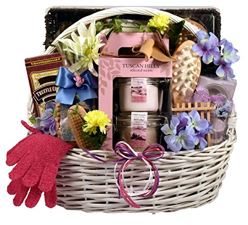 pamper gift baskets Gift Basket Village The Royal Treatment Spa Gift Baskets For Her - Melt Her Heart And Her Cares Away At The Same Time With This Luxury Personal Pampering Gift For Her (XL)
