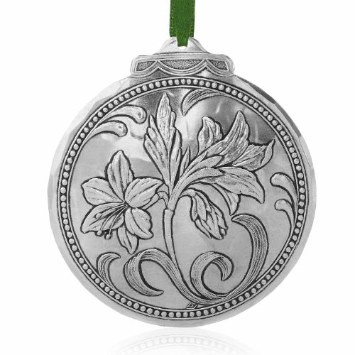 Amaryllis Ornament, Metal, Handmade in the USA by Wendell August Forge