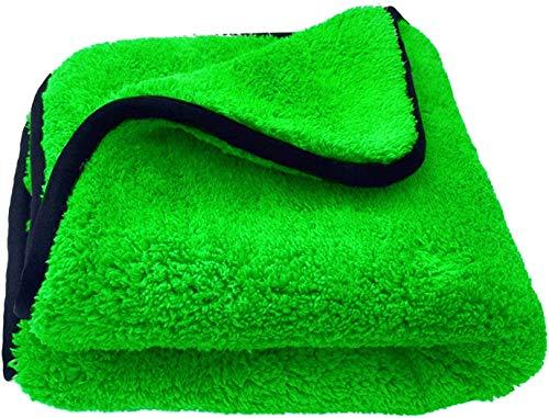 Detailers United - Toalla de microfibra de doble propósito para coche, 950 g/m², pulido, secado, encerado, limpieza, valet, 45 x 40 cm