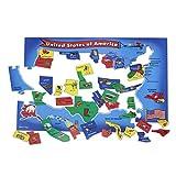 Melissa & Doug 440 Puzzle - Rompecabezas (Rompecabezas de Figuras, Mapas, Niños, 6 año(s), 914,4 mm, 609,6 mm)