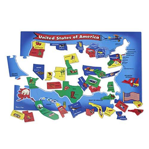 Melissa & Doug USA Map Floor Puzzle (51...