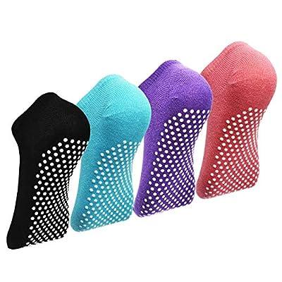 Barre Socks for Women- Elutong Pilates Socks Grips Yoga Grippers Ballet Non Slip Anti Skid Socks