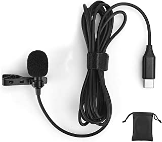 High Sensitivity Portable Lavalier Clip-on Microphone, Type C Microphone, for Recording Interview for Mobile Phone