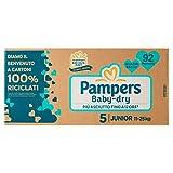 Pampers Pannolini Baby-Dry Junior Taglia 5, 92 Pezzi - 3726 g