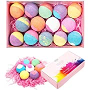 Bath Bomb Gift Set, Anjou 14 Pack Bath Bombs Moisturizing with Essential Oils, Spa Bubble Fizzers, Perfect Christmas Valentines Birthday Gift Set for Kids, Women and Girls