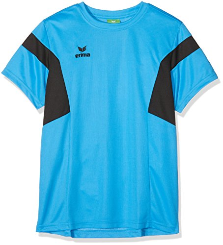 Erima Kinder Classic Team T-Shirt, curacao/Schwarz, 152