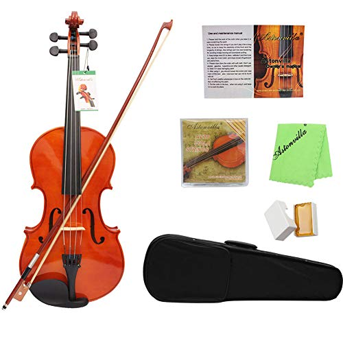 BLKykll 16 Inch Viola Esdoorn Spelen Natuurlijke Kleur Viola met Professionele Draagtas, Reinigingsdoek, Instructies voor gebruik, Gemakkelijk te leren spelen