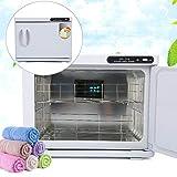GOTOTOP 23L UV-Handtuchwärmer 2-in-1-Handtuch-Sterilisator-Kabinett Kompressorwärmer mit Tablett für Schönheitssalons und Friseursalons