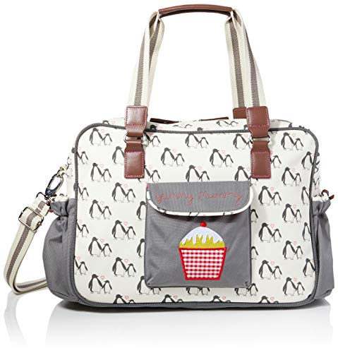 Pink Lining Sac /à langer Motif Apple and Pears Gris