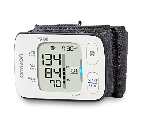 Omron 7 Series Wrist Blood Pressure Monitor; 100-Reading Memory with Heart Zone Guidance and...