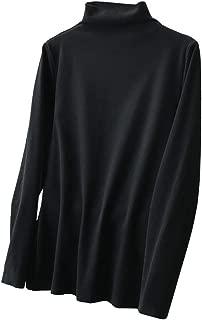 Turtleneck Bottom Shirt Cotton Long Sleeve Casual Tops Warm Slim Tops