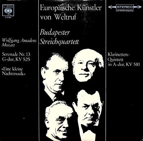 Mozart: Serenade Nr. 13 G-dur, KV 525; Eine kleine Nachtmusik; Klarinetten-Quintett in A-dur, KV 581; Europäische Künstler von Weltruf - S 72365 - Vinyl LP