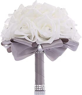 Best satin flower wedding bouquet Reviews