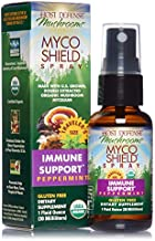 Host Defense, MycoShield Peppermint Spray, Immune Support, Mushroom Supplement with Turkey Tail, Reishi and Chaga, Vegan, Organic, 1 oz (71 Servings)