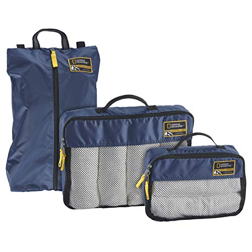 Eagle Creek National Geographic Adventure Essential Packing Set, Cosmic Blue, One Size
