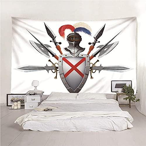 binghongcha Tapiz para Colgar En La Pared del Hogar Espada Y Escudo 140X210Cm Decoraciones para Colgar En La Pared Paño De Pared para Dormitorio Sala De Estar Decoración De Dormitorio