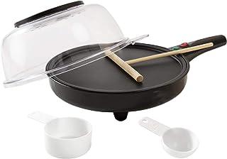 Hjul N bitar nya 800 W 20 cm 8 tum elektrisk pannkaka kräftmaskin + popcorn omelett platt bröd non-stick tallrik + gratis ...