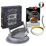 Hamburguesas - Molde para hamburguesas y tortitas Gourmet con molde de huevo de silicona y recetario, profesional con recetarios