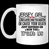 N\A Jersey Girl Can Love-To-Death or Cause You-To-Death Taza de café de Halloween, Taza de café de Navidad 11oz