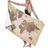 Large Soft Bath Towel Blanket,Summer Vacation Theme Seascape with Wave and Clear Sky Travel Surf,Bath Sheet Beach Towel for Family Hotel Travel Swimming Sports,52' x 32' Towl03