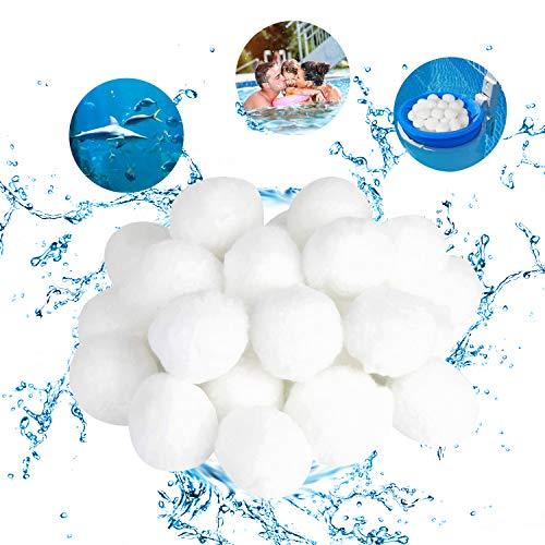 KWODE Filter Balls, Filterballs für sandfilteranlagen 1400g Filterbälle ersetzen 50 kg Filtersand für Pool Sandfilter, Schwimmbad, Filterpumpe, Aquarium Sandfilter