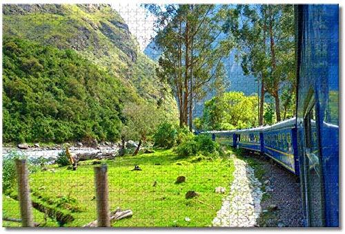 LFNSTXT Train Machu Picchu Andes Peru Rompecabezas para adultos y niños, 500 piezas, juego de rompecabezas de madera para regalos, decoración del hogar, recuerdos especiales de viaje