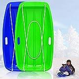 Atalawa KALUOLA Snow Sleds Toboggans, Sledges & Toboggans Heavy Duty Sledge Toboggan Sleigh Sleds Plastic Unisex Ski Fun Board…