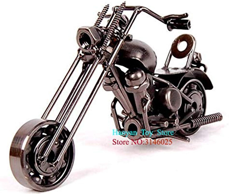 Generic Kids Collectible Art Sculpture Handmade Metal Motorcycle Tractor Model Creative Office Desktop Accessories Decor Motorcycle Toys G