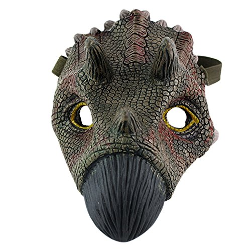 Coxeer Dinosaur Mask, Latex Animal Masks Scary Halloween Mask Masquerade Mask