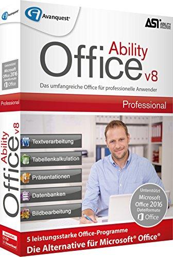 Ability Office 8 Professional. Für Windows Vista/7/8/8.1/10