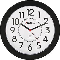 Lorell 60990 Wall Clock, Arabic Numerals, 9-Inch, White Dial/Black Frame