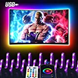 Maxcio Smart Striscia LED USB TV, 3M LED Luci Colorati Compatibile con Alexa e Google Home, APP Controllo, Smart Strip RGB 5050 con Funzione Timer, Modalità Musica Perfetto per Feste e Decorazione