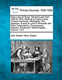 Early Laws of Texas: General Laws from 1836 to 1879, Relating to Public Lands, Colonial Contracts, Headrights, Pre-emptions, Grants of Land to ... Marital Rights,... Volume 1 of 3