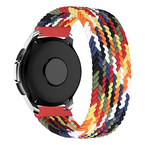 MroTech Compatible con Samsung Galaxy Active/Active2 40mm/44mm/Galaxy Watch 3 41mm/Galaxy 42mm Correa Nailon elástico 20mm Pulseras de Repuesto para Huawei GT 2 42 mm Banda Nylon Woven Loop-Vistoso/XS