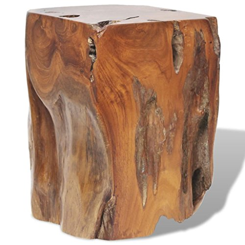 vidaXL Teck Massif Tabouret Repose-Pied Table d'Appoint Table Basse Salon