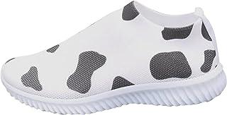 lcybem Respirant Slip on Baskets Femme Chaussures deCourse Legeres Mesh Motif Chaussures de Sport Fitness Sneakers