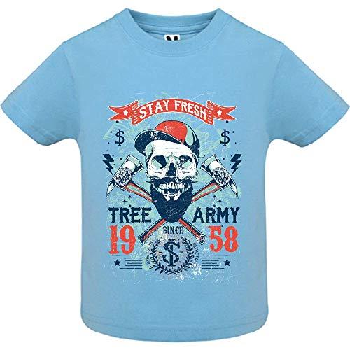 LookMyKase T-Shirt - Tree Army - Bébé Garçon - Bleu - 2ans