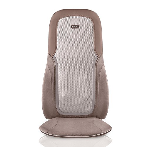 HoMedics, Quad Shiatsu Pro Massage Cushion with Heat, Zone Control (Targeted Spot, Full, Lower & Upper Back), 3 Massage Styles (Percussion, Kneading & Rolling), Remote & Integrated Strapping System