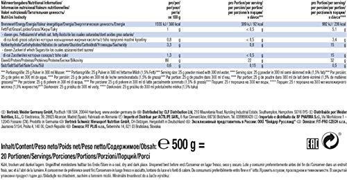 Weider Day & Night Casein Protein, Vanilla-Cream/Vanille-Sahne, 1er Pack (1x 500g), Beutel - 5